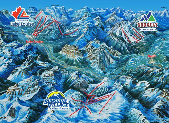 Banff-Lake Louise Ski Resort Area - Alberta Canada