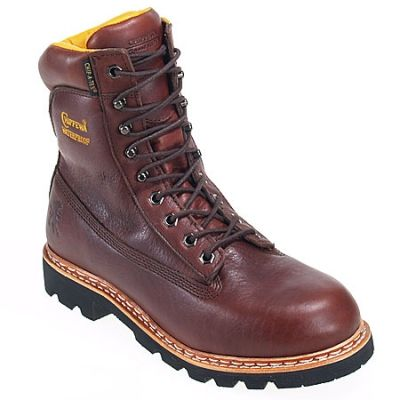 Chippewa Boots: Men's Waterproof 25950 Brown Insulated Work Boots #CarharttClothing #DickiesWorkwear #WolverineBoots #TimberlandProBoots #WolverineSteelToeBoots #SteelToeShoes #WorkBoots #CarharttJackets #WranglerJeans #CarhartBibOveralls #CarharttPants