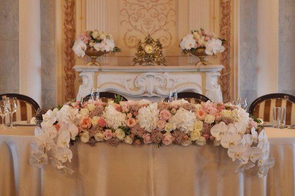 Оформление столов гостей Флористика и декор: Flower Shower