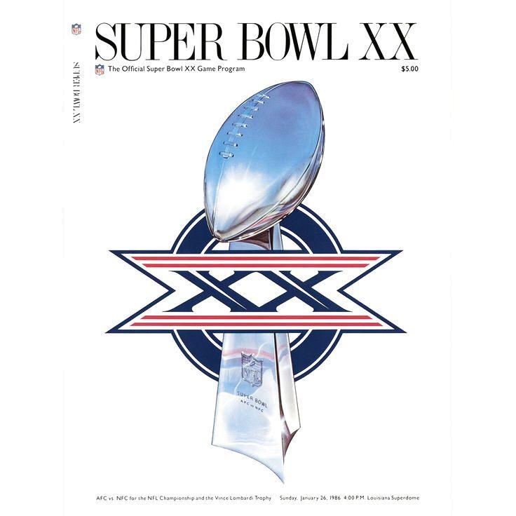 "Fanatics Authentic 1986 Bears vs. Patriots 22"" x 30"" Canvas Super Bowl XX Program - $79.99"