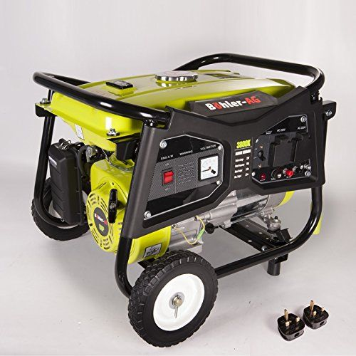Generator 3000w, 3.8KVA 4 Stroke Petrol, UK Plug sockets, 8HP Copper Wound WX3800K – Generators For Sale
