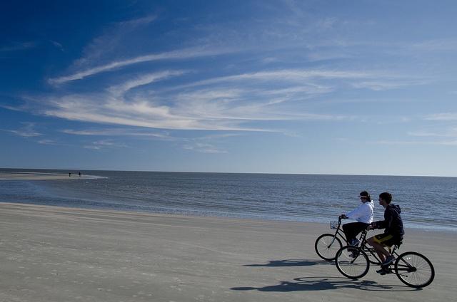 St Simons Island - beach biking
