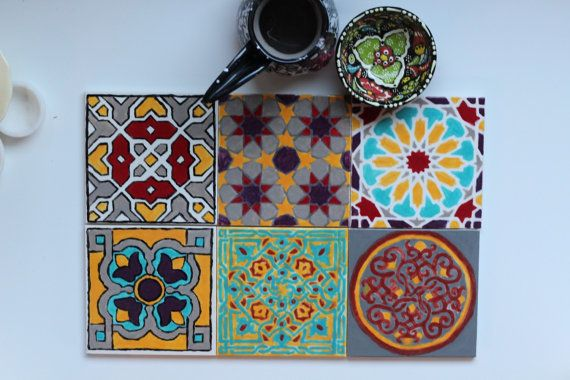 Hand-Painted Moroccan/Mediterranean Ceramic by XedCreativeDesign