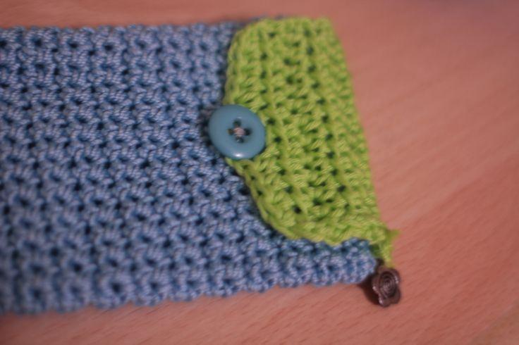 taschino azzurro e verde