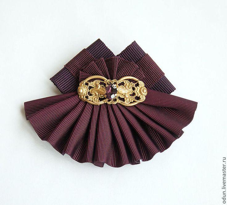 Купить Брошь Бордо - бордовый, винтажный стиль, стильное украшение, брошь, подарок на любой случай