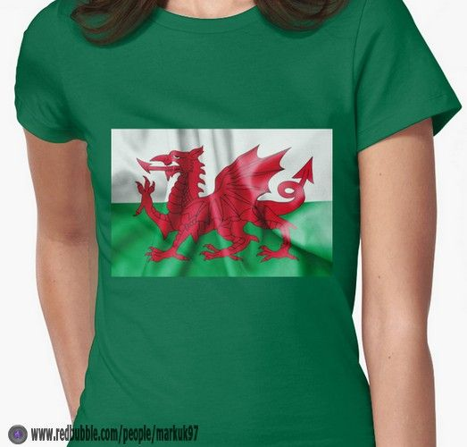 Wales Flag Women's Fitted T-Shirts http://www.redbubble.com/people/markuk97/works/13989364-wales-flag?p=t-shirt via @redbubble #Wales #Flag #Welsh #Euro2016 #Redbubble #Europe #Dragon