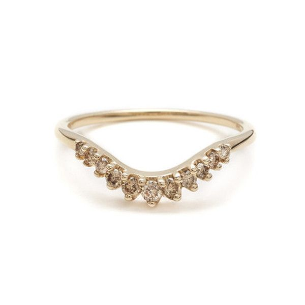 Tiara curve band by Anna Sheffield will fit almost any solitaire