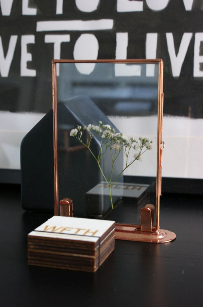 WFTH #copper #frame I could write a cute note and put leaves all around it for ben...hmm