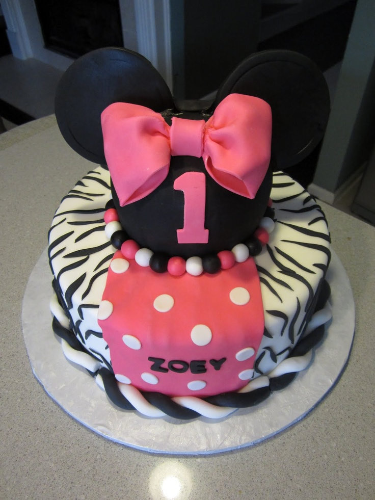 79 best Minnie Mouse Hot Pink Zebra Birthday images on Pinterest