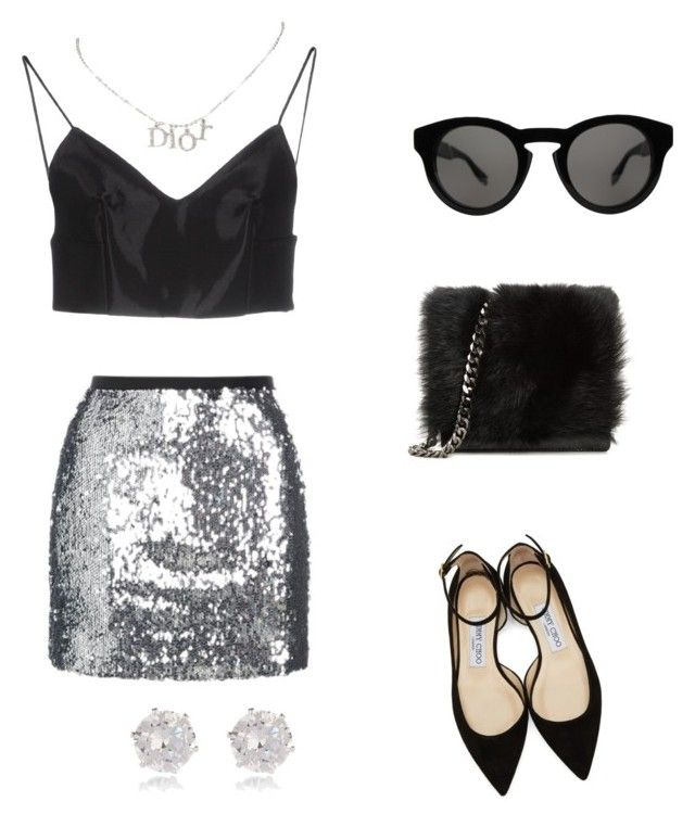 """Untitled #55"" by petricaiacob on Polyvore featuring Alexander Wang, Topshop, Givenchy, Vivienne Westwood, Jimmy Choo, Christian Dior and River Island"