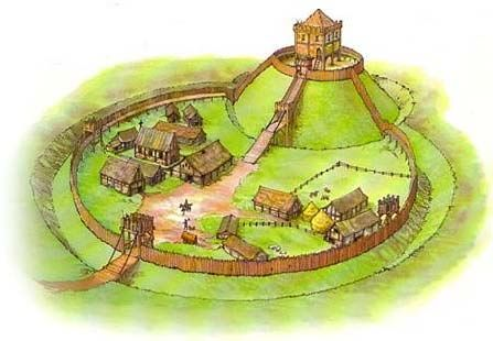 motte and bailey castles - Google Search