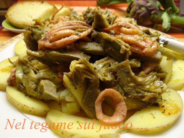 Questa ricetta a base di carciofi, calamari e patate in salsa d'arance è un perfetto abbinamento che stupirà i vostri commensali