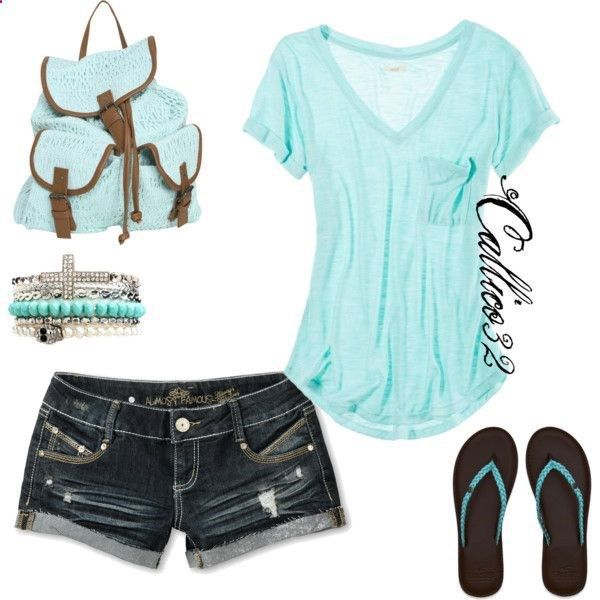 Charming Mint Summer Outfits find more women fashion on http://www.misspool.com find more women fashion on www.misspool.com      Just No Bookbag, or braclets
