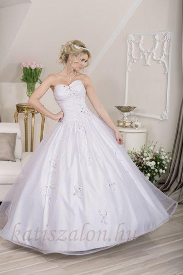 134- Matt organza, hercegnős esküvői ruha