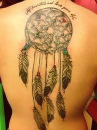 Dreamcatcher tattoo quote tattoo - 50 Dreamcatcher Tattoo Designs for Women