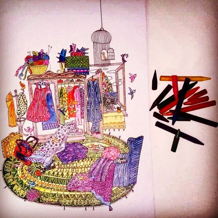 """Kolorujemy szafę  #koloruje #kolorowanie #kolorowanka #coloringbook #anitagraboś #beautiful #art #kolorowanki #colorful #relax #color…"""