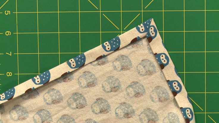 Sewing Corners With a Double-Fold Hem | National Sewing Circle  #LetsSew #finishingtouches #sewing