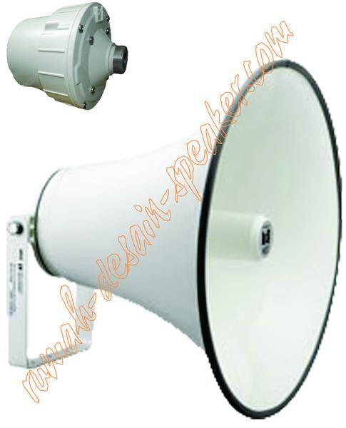 Speaker corong TOA 50 Watt model ZH-652D, Low impedansi (16 Ohm), tidak menggunakan Matching Transformer, dengan diaphragm/spul ZG-50DB warna merah memiliki daya 50 Watt (2 kali lipat dari ZH-5025 series)  Speaker Horn ini merupakan gabungan antara Horn ZH-652T dan Driver unit ZH-652D  Suara lebih kencang hingga mencapai 100 meter lebih dengan pemasangan yang tepat dan ketinggian yang cukup dan perhitungan daya ampli yang benar.  Mudah pemasangannya dan perawatannya karena driver unit nya…