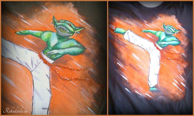 #goblin #capoiera #koszulka #handmade #rekodzielaeu