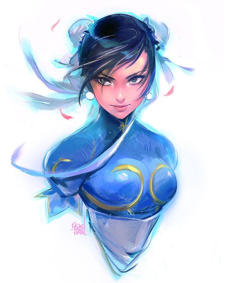 "rossdraws: ""It's almost Chinese New Years! I wanted to paint Chun-Li for this week's episode and here's something I did to prepare for it  """