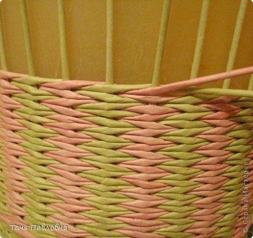 Поделка изделие Плетение Бумага газетная Трубочки бумажные