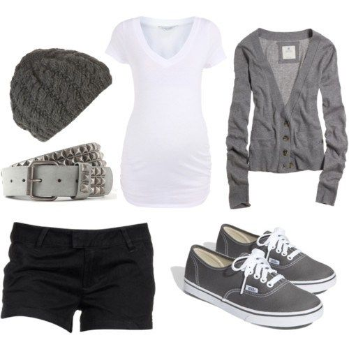 Greyscale: Outfits, Fashion, Style, Clothing, Clothes, Dream Closet, Casual, Summer, Grey