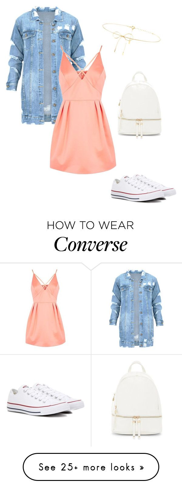 """Untitled #1"" by caterack on Polyvore featuring Converse, Topshop, Lilou and Urban Expressions"