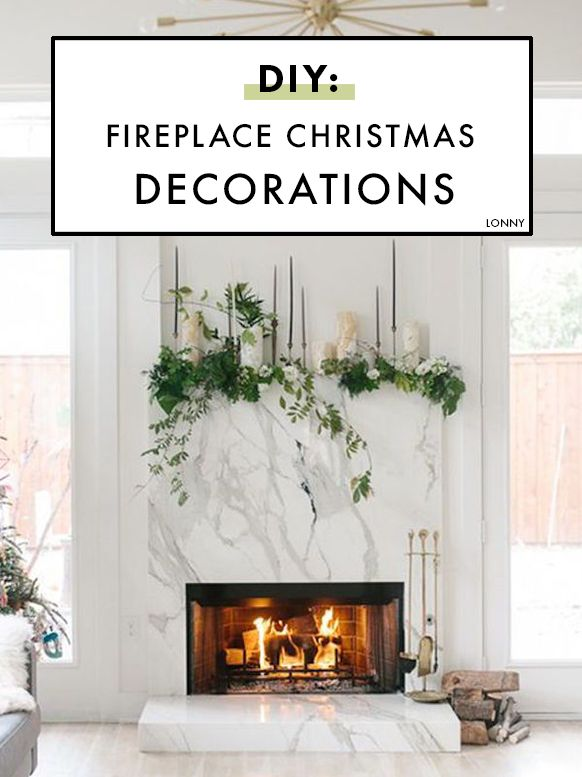 How to DIY: Festive Christmas fireplace decorations.
