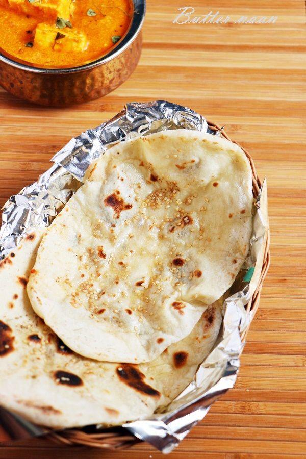 Lunch ideas: Restaurant style butter naan! Recipe @ http://cookclickndevour.com/butter-naan-recipe #cookclickndevour #lunch #recipeoftheday