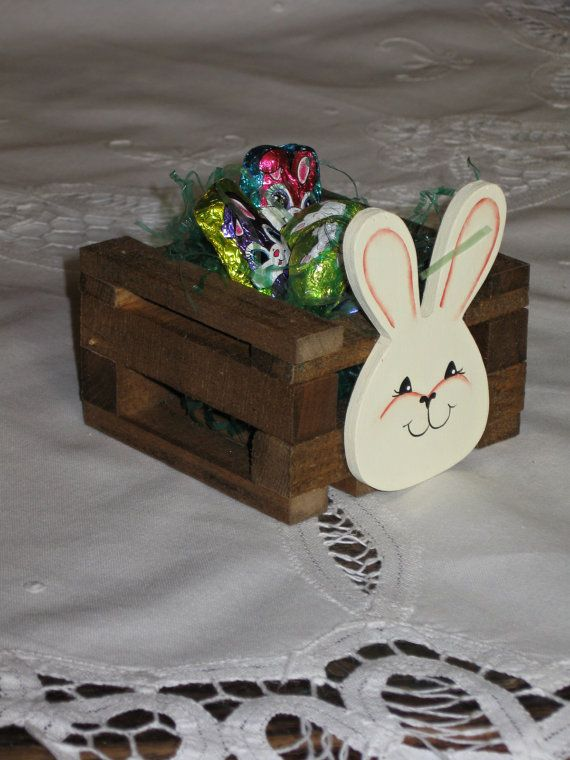 Handmade Wooden Easter Bunny Crate/Table by TheCountryTouch