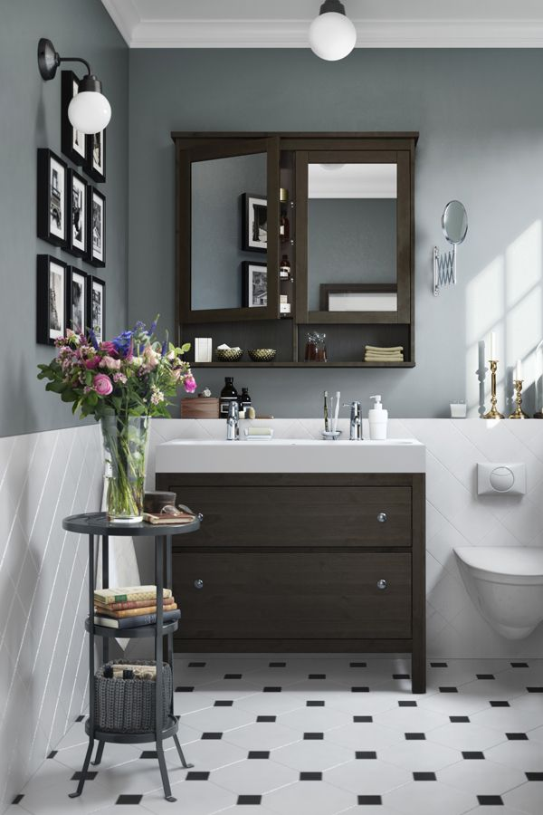Add a touch of charm and comfort to every room of your home - even the bathroom! The IKEA HEMNES bathroom series teams organization with a traditional design aesthetic.