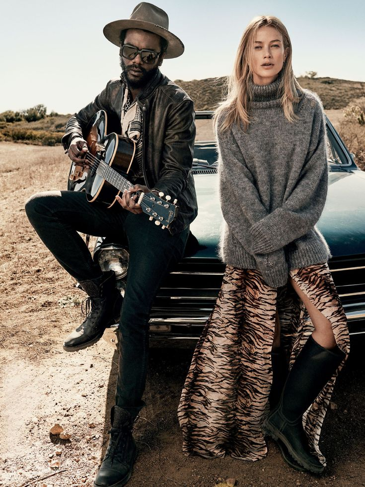 Carolyn Murphy & Gary Clark Jr. by Craig McDean for Vogue US March 2016