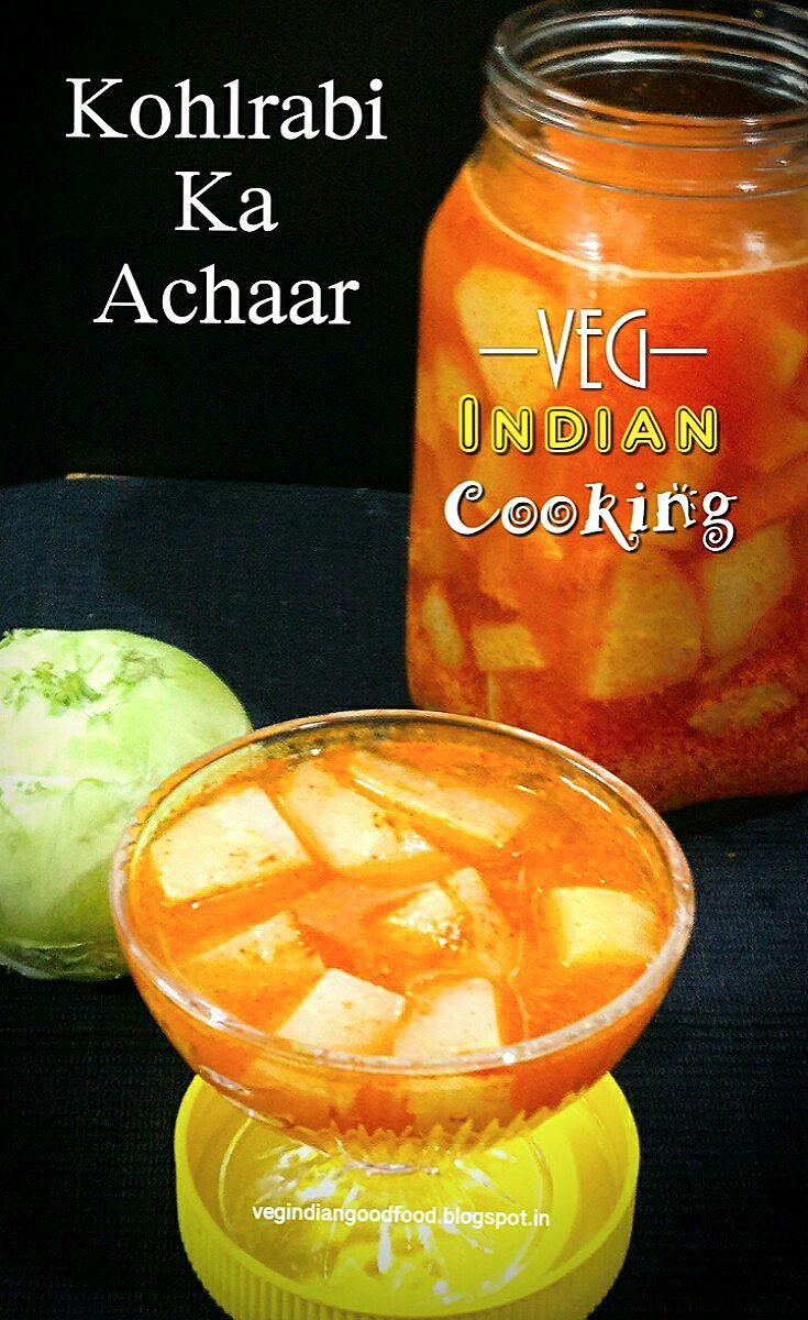 How to make Ganth Gobhi Ka Achaar | Oil Free Kohlrabi Pickle | Pickled  Kohlrabi Recipe | Super Quick Cabbage Turnip Pickle #kohlrabi #germancabbage #ganthgobhi #indianrecipes #foodblogger #picklerecipe #kohlrabipickle #oilfreepickle .
