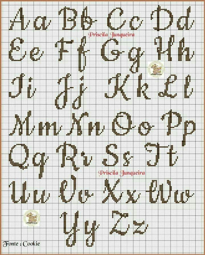 Letras Em Ponto Cruz Com Imagens Ponto Cruz Monograma Nomes