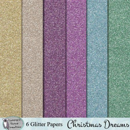 Christmas Dreams Glitter papers