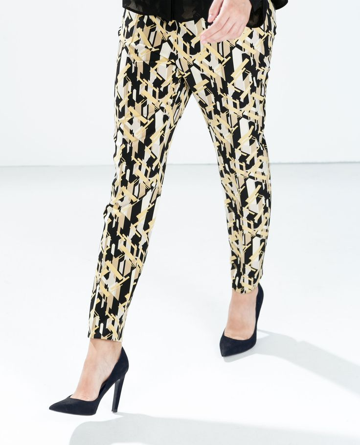 Image 2 of PRINTED TROUSERS WITH FLAPS from Zara