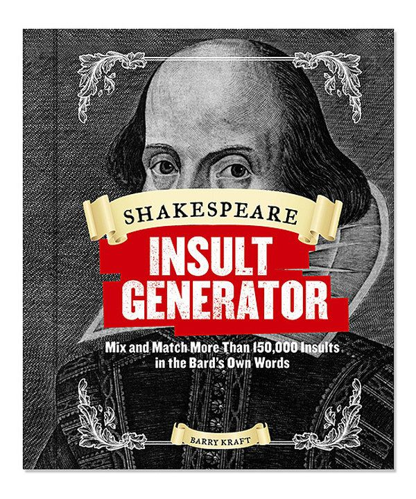 Look at this Shakespeare Insult Generator Hardcover on #zulily today!