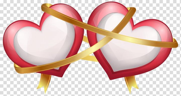 Two Hearts Illustration Wedding Invitation Valentine S Day Heart Two Hearts With Ribbon Transparent Background P Heart Clip Art Clip Art Heart Illustration