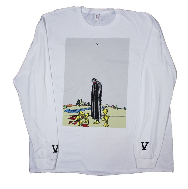 Wavves flag white long sleeve · band teesband merchwhite