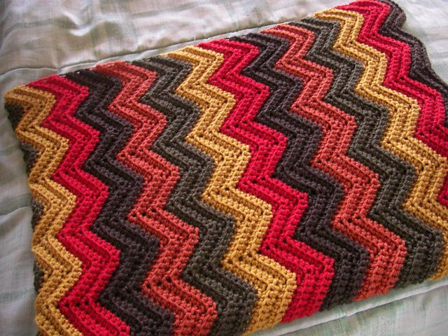 Free Pattern For Single Crochet Ripple Afghan : Ravelry: Bevs Baby Ripple Afghan pattern by Beverly A ...