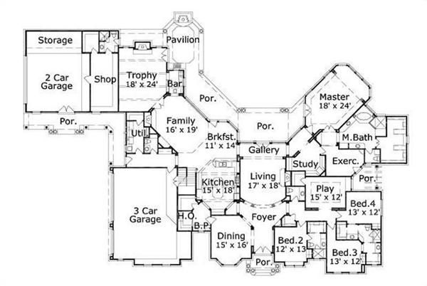 Home Plan Number 20003 First Story Floor Plan 2014 Home