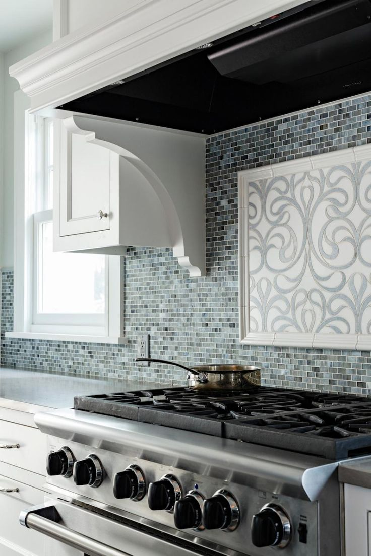 A decorative tile backsplash adds pizzazz to the cooking for 1920 kitchen floor tile