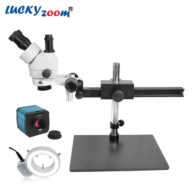 Find More Microscopes Information about Luckyzoom 7X 45X Trinocular Soldering Repair Microscope 14MP HDMI Microscopio Camera 144PCS Ring Light Illuminator Free Shipping,High Quality ring light illuminator,China 7x-45x trinocular Suppliers, Cheap 14mp hdmi from LUCKY ZOOM Stereo Microscope Store on Aliexpress.com