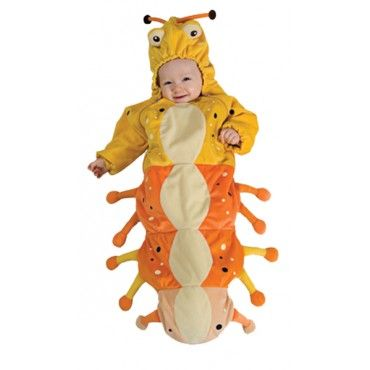 Your wiggly and giggly baby will look adorable wearing the Caterpillar Bunting Costume! www.rightstart.com