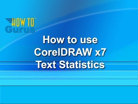 How to use Text Statistics - CorelDRAW x7 Text Effects Tutorial