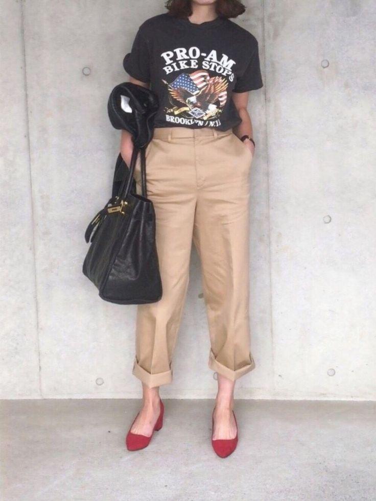 B.さんの「ロックTシャツ(THE SHINZONE)」を使ったコーディネート