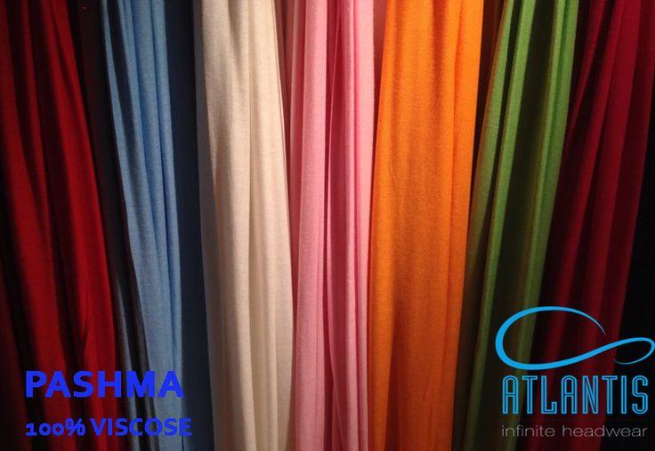 PASHMA  100% viscose  colours: red, light blue, natural, pink, orange, green,burgundy, black , fuchsia  #atlantis #headwear #scarf #caps #hats #infinite #colours