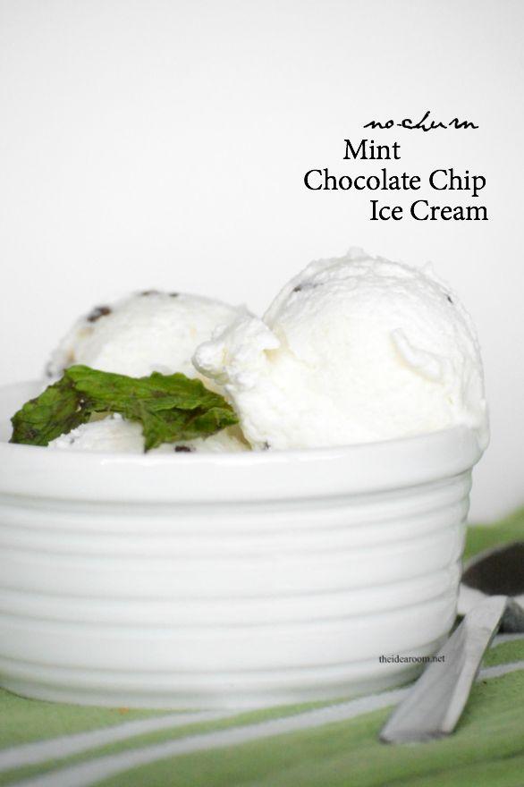 No-Churn Mint Ice Cream dessert recipe and ideas |