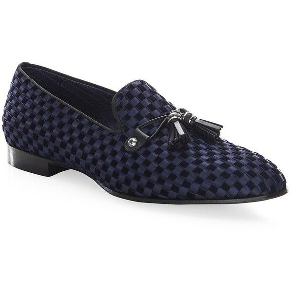Louis Leeman Check Velvet Satin Loafers ($855) ❤ liked on Polyvore featuring men's fashion, men's shoes, men's loafers, mens slipon shoes, mens tassel loafers, mens leather sole shoes, mens velvet loafers and mens slip on loafers