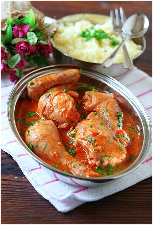 Цыпленок в томатно-кокосовом соусе - В гостях у Фиалки!